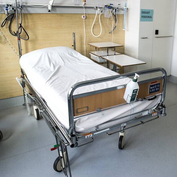 Ett sjukhusrum på Nya Karolinska Solna.