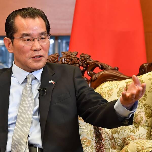 Kinas ambassadör Gui Congyou på ambassaden i Stockholm den 15 november 2019.