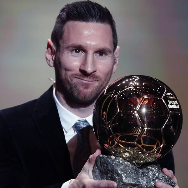 Lionel Messi vann sin sjätte Ballon d'Or.