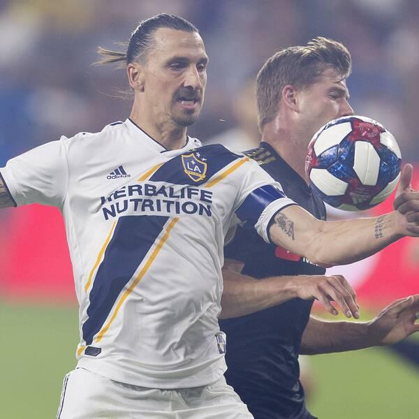 Zlatan under det som blev hans sista match i MLS, kvartsfinalen mot LAFC.