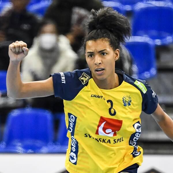 Jamina Roberts var en av segerorganisatörerna mot Argentina.