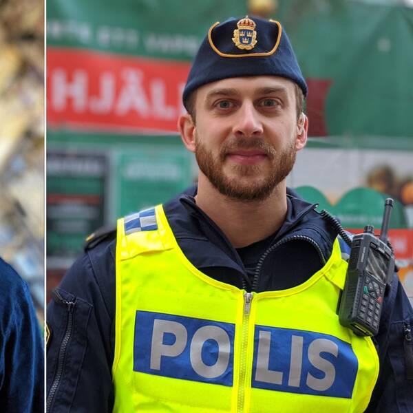 Christopher Forsberg på Västerås stad och JOhan Thalberg på polisen