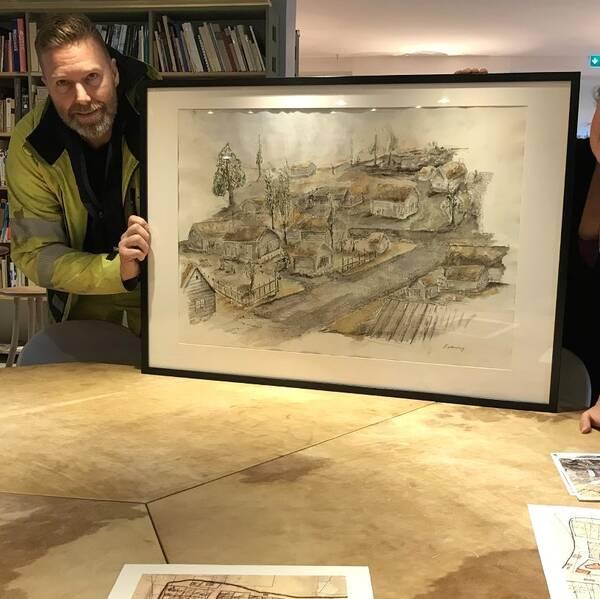 Hör rörläggaren och konstnären Richard Wennberg berätta om sin målning.