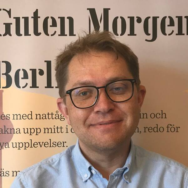 Marco Andersson, marknadschef på Snälltåget.