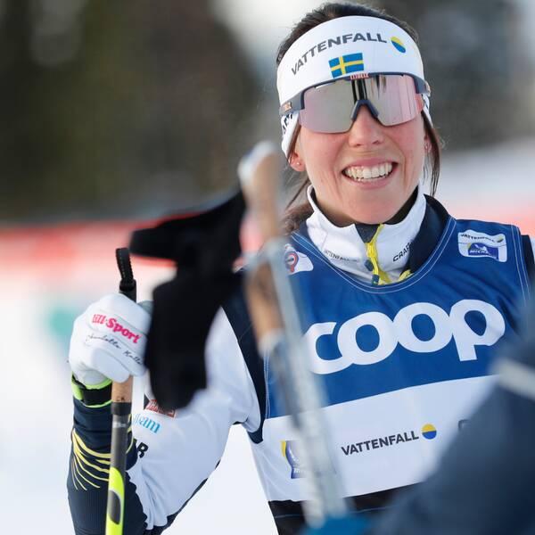 Charlotte Kalla litar på det svenska landslagets skyddsnät.