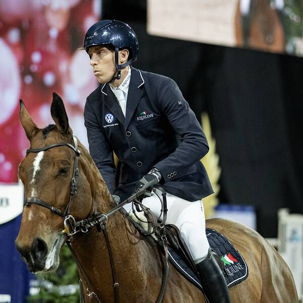 Henrik von Eckermann med hästen Hannah under Sweden International Horse Show i slutet av november.