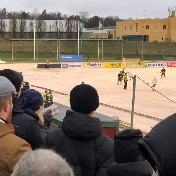 Bandy mellan Hammarby och AIK på Östermalms IP