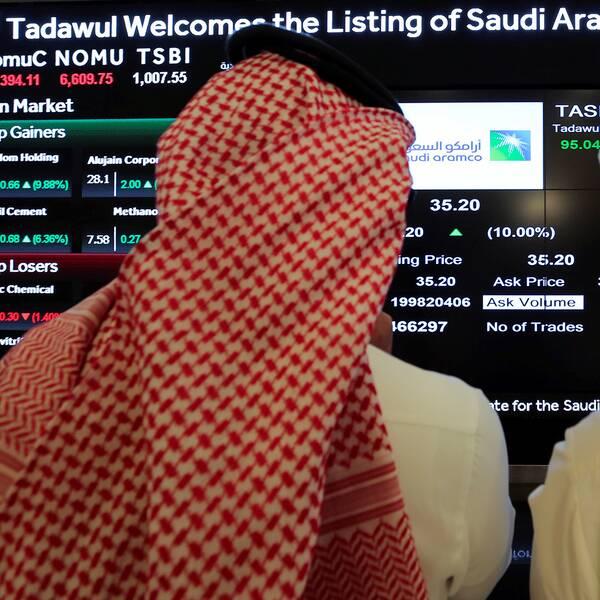 Under onsdagen börsnoterades Saudi Aramco.