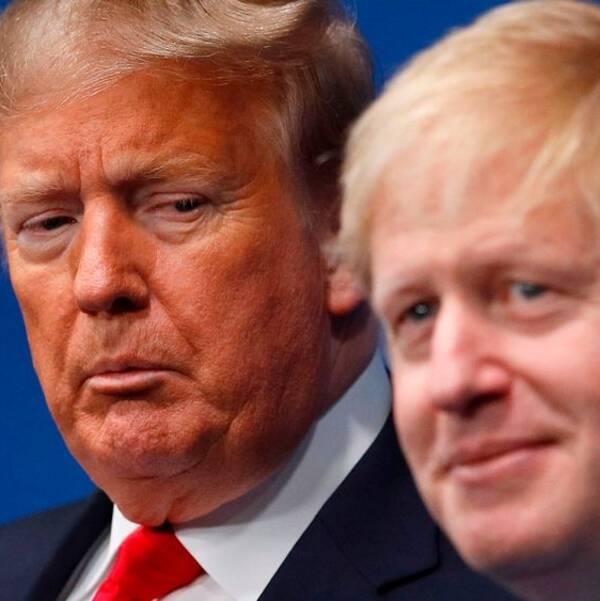 Den amerikanska presidenten Donald Trump och Toryledaren Boris Johnson.