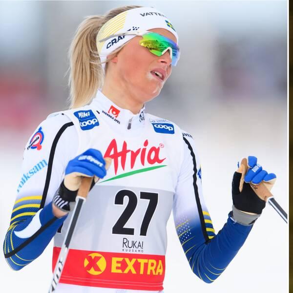 Stina Nilsson säger sig inte ha påverkats av Frida Karlssons tävlingsstopp.