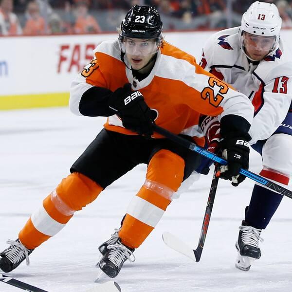 Philadelphia Flyers spelade för Oskar Lindblom som drabbats av cancersjukdom.