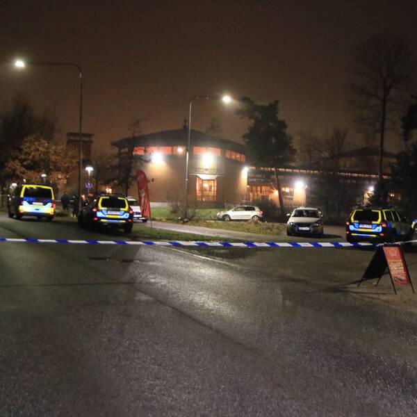 Polisens avspärrning