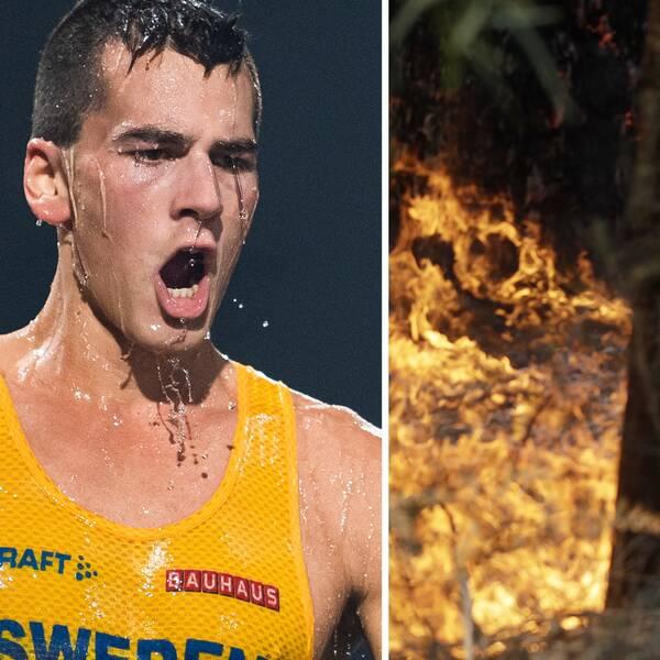 Perseus Karlström tvingades flytta träningen på grund av bränderna i Canberra.