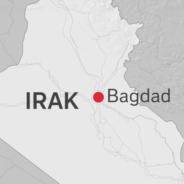 Flera explosioner ska ha hörts i Bagdad under söndagskvällen.