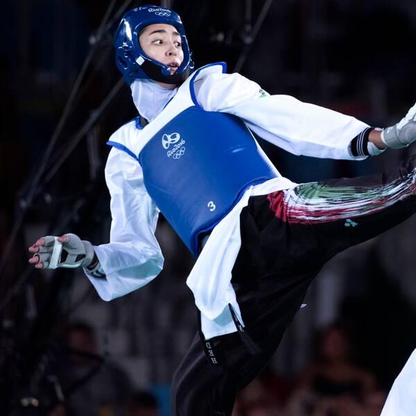 Kimia Alizadeh vann bronsmatchen i OS 2016 över Nikita Glasnovic.