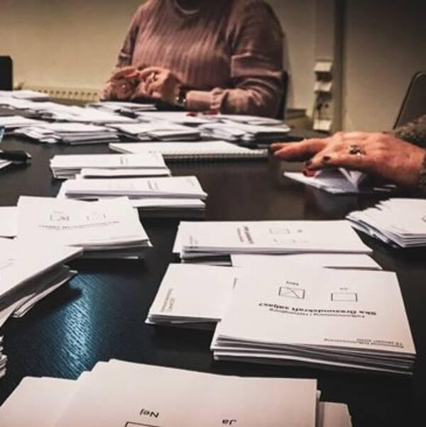 Kontrollräkning efter valet om Öresundskraft i Helsingborg