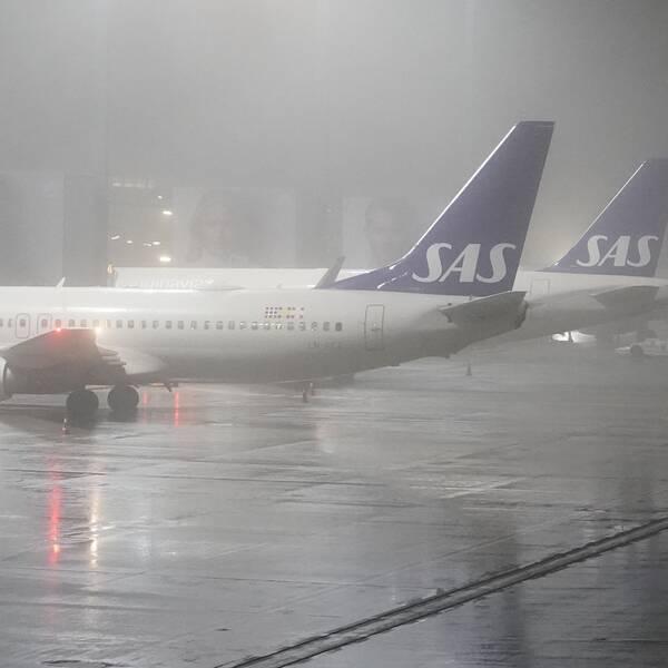Flygplan på flygplatsen Gardermoen.