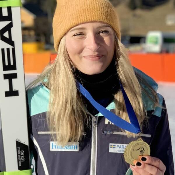Ebba Årsjö tog karriärens första världscupsseger i paraalpint.