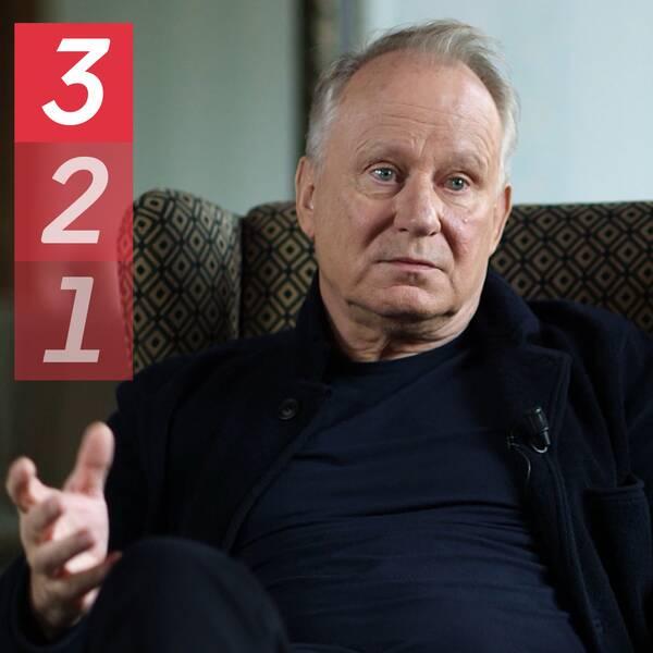 Bild på Stellan Skarsgård från Kulturnyheternas intervju med skådespelaren.