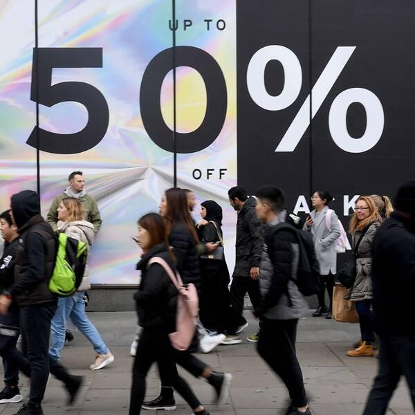 Shoppinggata i London