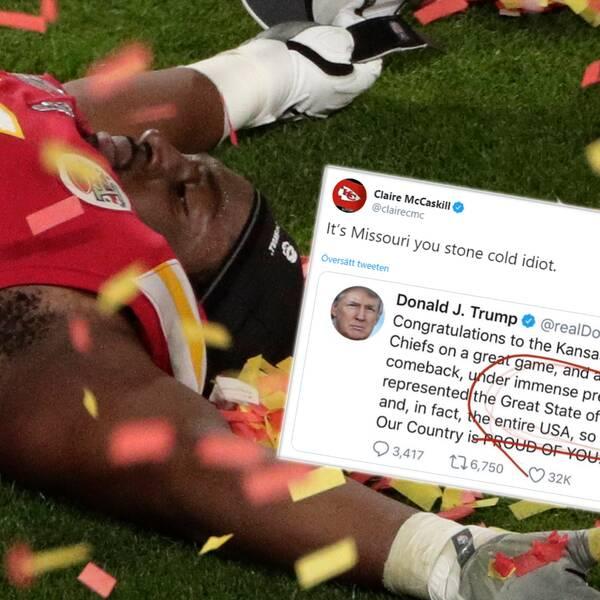 Donald Trump gratulerade fel lag till Super Bowl-titeln.