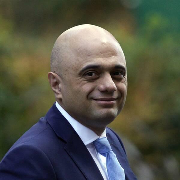 Finansminister Sajid Javid och premiärminister Boris Johnson.