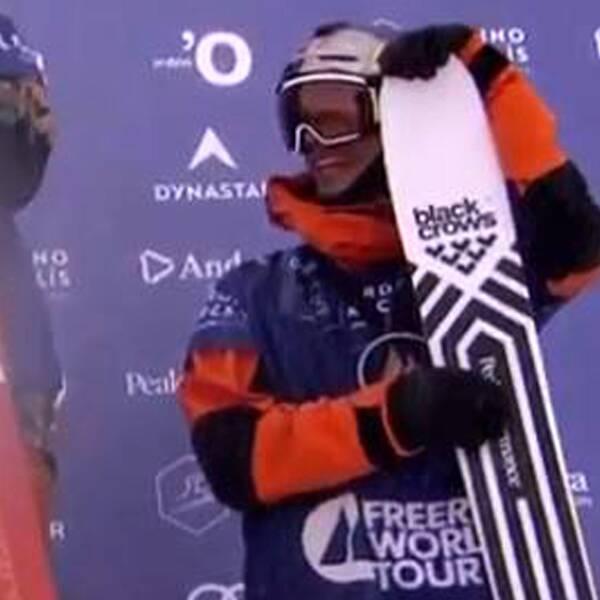 Turdell under Freeride-tävlingen i Andorra.