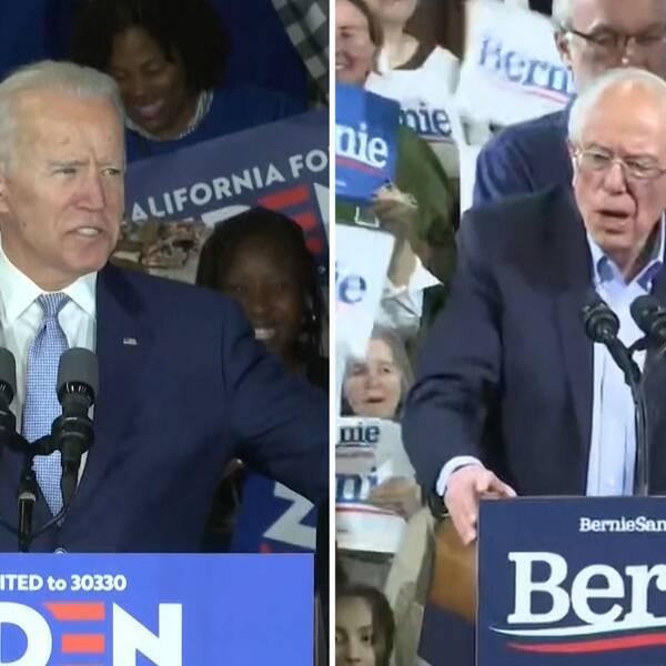 Joe Biden och Bernie Sanders