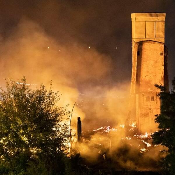 Brand vid tågstationen i Hässleholm