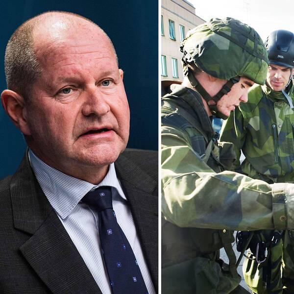 Militärer och vårdpersonal hör till de yrkesgrupper som pekas ut som särskilt viktiga yrkesgrupper att värna om skolorna stängs, meddelade MSB-chefen Dan Eliasson