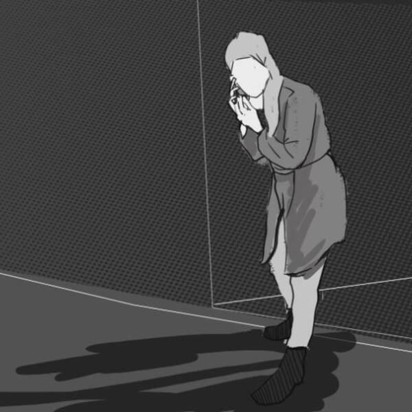 Tecknad bild på kvinna som ringer samtal