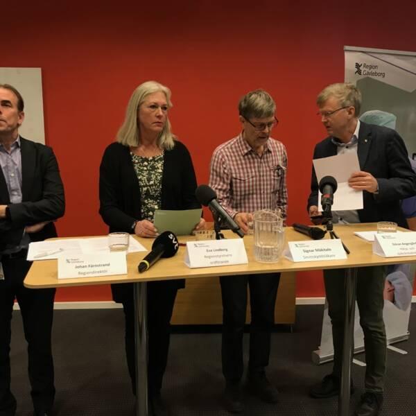 Presskonferens med region Gävleborg.