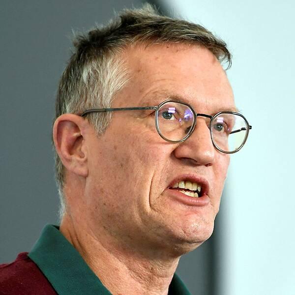 Statsepidemiolog Anders Tegnell under onsdagens pressträff med Fokhälsomyndigheten
