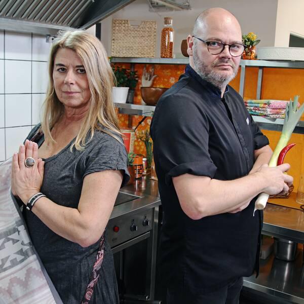 Fredrik Lindvall, kock och Kristina Snow, yogalärare.
