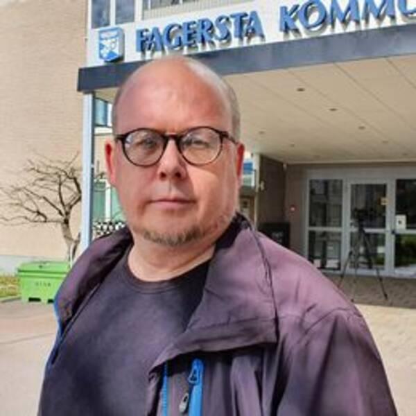 Malmens fasad i Fagersta, Socialdemokrat Niclas Bergström ordförande i socialnämnden i Fagersta.