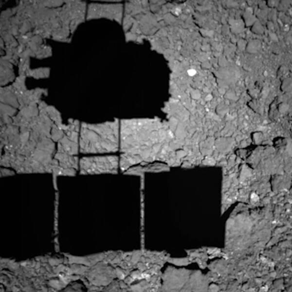 Den japanska rymdsonden landar på asteroiden Ryugu för att samla in stenprover.