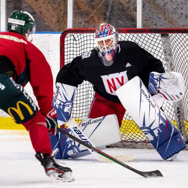 Henrik Lundqvist tränar med Frölunda.
