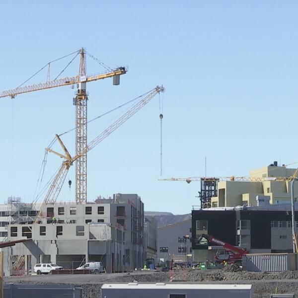 Byggarbetsplats i nya Kiruna inför stadsomvandlingen.