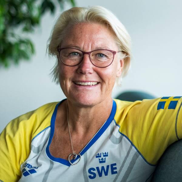 Simningens förbundskapten Ulrika Sandmark.