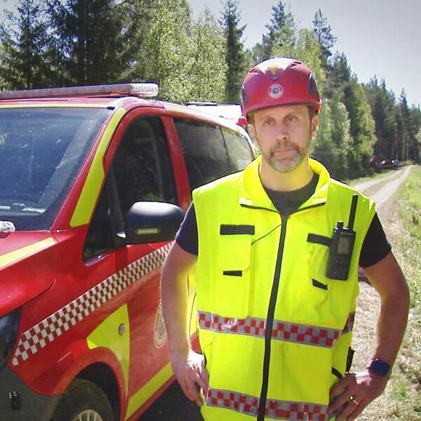 Daniel Holmström, räddningsledare vid Gästrike räddningstjänst.