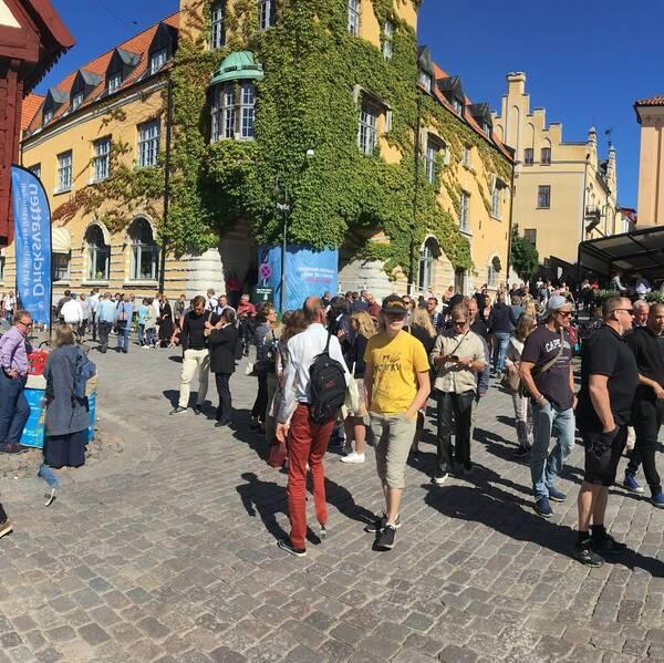 Almedalen, Almedalsveckan, politikerveckan, Visby, folksamling, vimmel