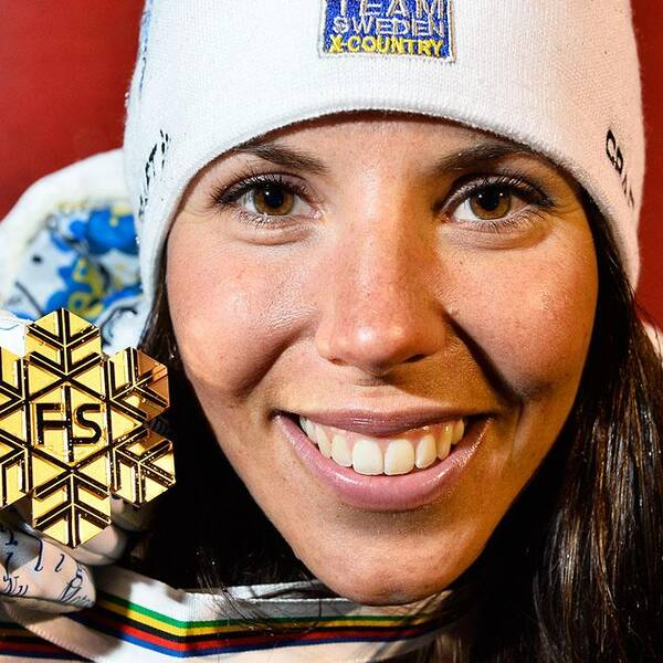 Charlotte Kalla tog fyra medaljer i Falu-VM.