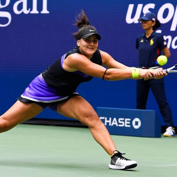Kanadensiskan Bianca Andreescu vann damernas singelturnering i US Open förra året.