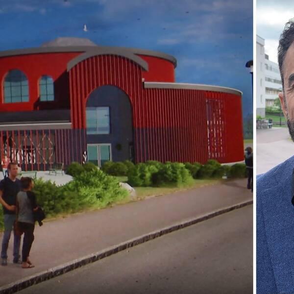 Rauf Ahmadi från Islamiska kulturföreningen i Karlstad hoppas att moskén kan stå klar inom ett år.