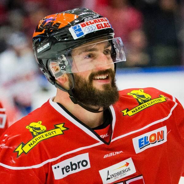 Nick Ebert i en av sina matcher med Örebro Hockey.