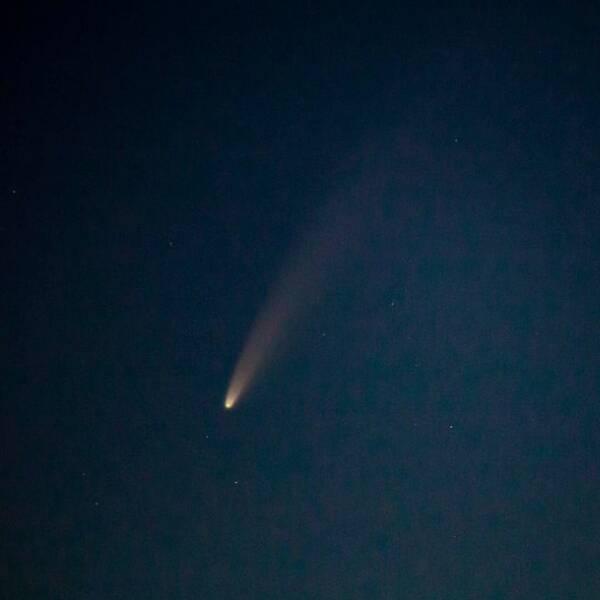 man såg komet