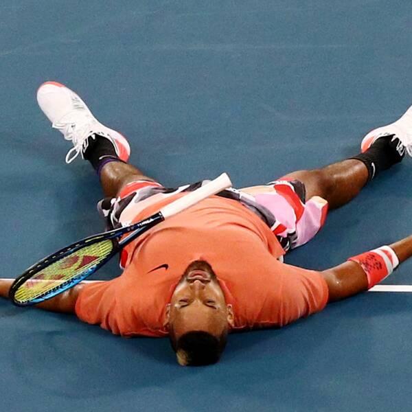Nick Kyrgios efter mötet med Rafael Nadal i Australian Open i januari 2020.