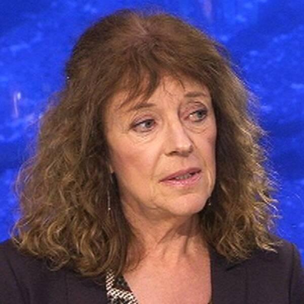 SVT:s inrikespolitisk kommentator Margit Silberstein i kvällens Aktuellt.