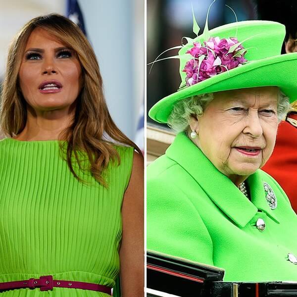 SVT:s reporter, Melania Trump och drottning Elisabeth.