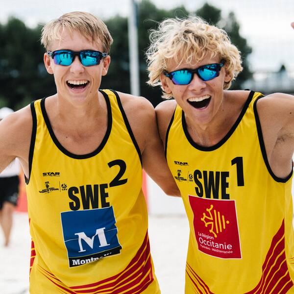 Jonatan Hellvig (Lidingö SK) och David Åhman (IKSU).